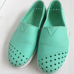 Native Shoes Verona Green Slip-On Sandals